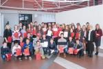 Uczestnicy konkursu wraz z opiekunami i organizatorami