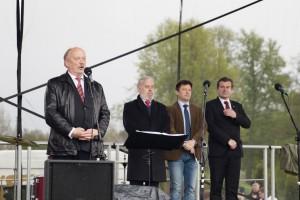 Goście wraz z prezesem ZPL Michałem Mackiewiczem witali rodaków
